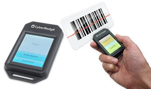 CyberBadge<sup>®</sup> – Portable Barcode Scanner and RFID Reader