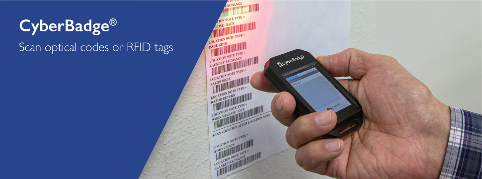 CyberBadge® - Scan optical codes or RFID tags